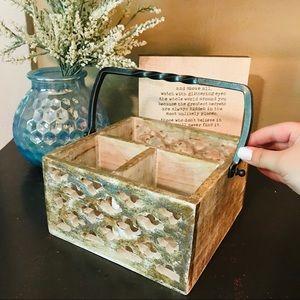 Wooden Cutout Style Portable Storage Box